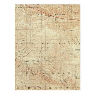 Mt Pinos quadrangle showing San Andreas Rift Postcard