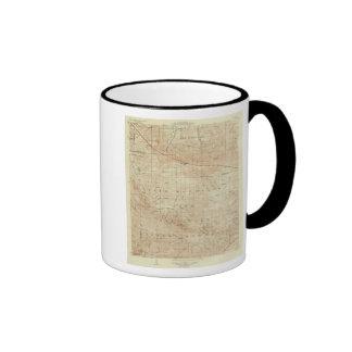 Mt Pinos quadrangle showing San Andreas Rift Ringer Coffee Mug