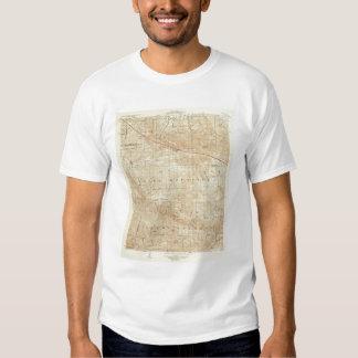 Mt Pinos quadrangle showing San Andreas Rift T-Shirt