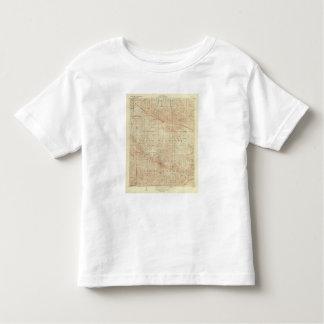 Mt Pinos quadrangle showing San Andreas Rift Toddler T-shirt