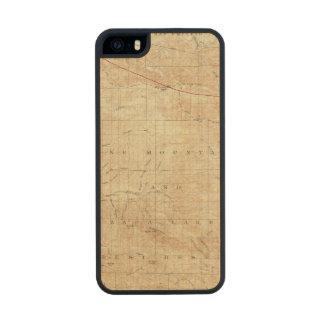 Mt Pinos quadrangle showing San Andreas Rift Wood iPhone SE/5/5s Case