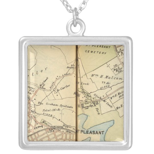 Mt. Pleasant, New York 2 Silver Plated Necklace