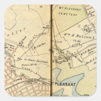 Mt. Pleasant, New York 2 Square Sticker