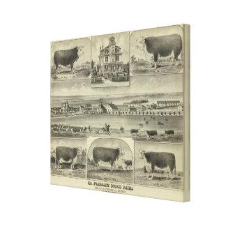 Mt. Pleasant Stock Farm, Colony, Kansas Canvas Print