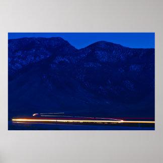 Mt. Potosi Traffic at Dusk Poster