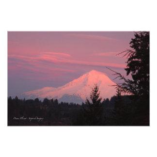 Mt. Puesta del sol de enero de la capilla Arte Fotografico