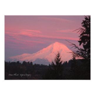 Mt. Puesta del sol de enero de la capilla Foto