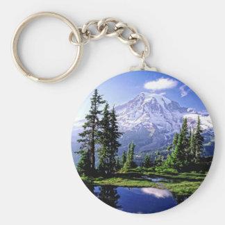 Mt Raineer National Park Keychain