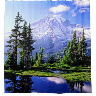 Mt Raineer National Park Shower Curtain