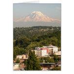 Mt. Rainer en Seattle Tarjeta De Felicitación