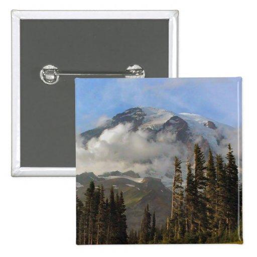 Mt Rainier 2 Inch Square Button