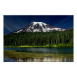 Mt. Rainier and Reflection Lake Posters