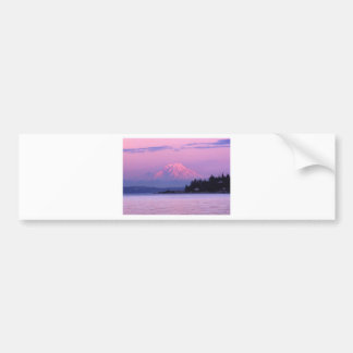 Mt. Rainier at Sunset, Washington State. Bumper Sticker