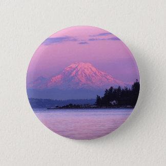 Mt. Rainier at Sunset, Washington State. Button