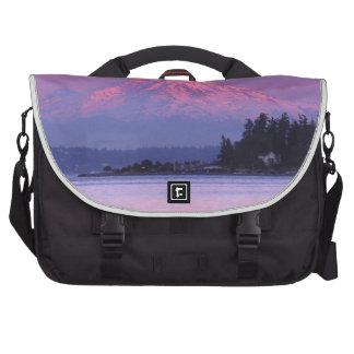 Mt. Rainier at Sunset, Washington State. Laptop Commuter Bag
