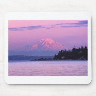 Mt. Rainier at Sunset, Washington State. Mouse Pad