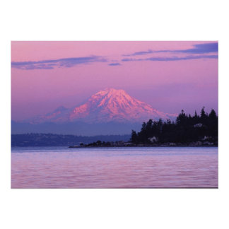 Mt. Rainier at Sunset, Washington State. Poster