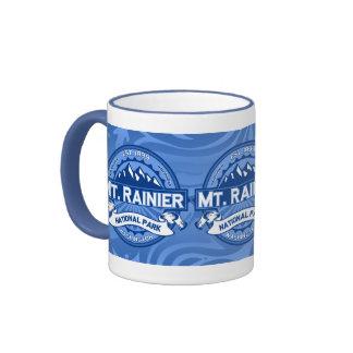 Mt. Rainier Blue Ringer Coffee Mug
