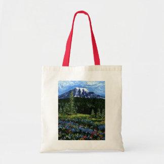 Mt Rainier Budget Tote Bag