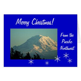 Mt. Rainier Christmas Card