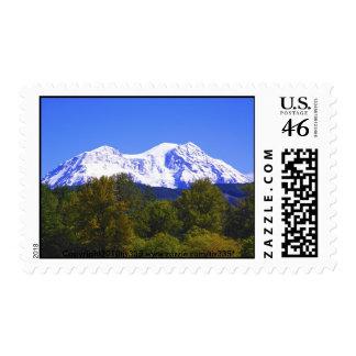 Mt. Rainier Fall Postage Stamp