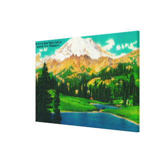 Mt. Rainier from Tipsoo Lake at Chinook Pass Canvas Print