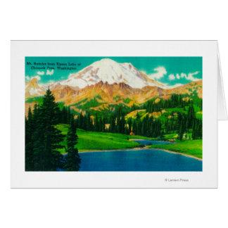 Mt. Rainier from Tipsoo Lake at Chinook Pass Card
