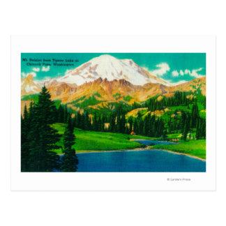 Mt. Rainier from Tipsoo Lake at Chinook Pass Postcard