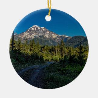 Mt. Rainier in Washington Ceramic Ornament