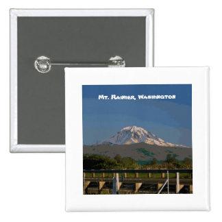 Mt. Rainier in Washington State Pinback Buttons