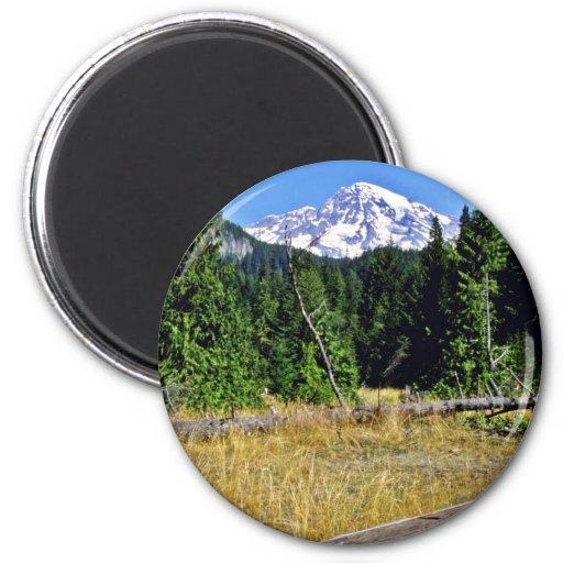 Mt. Rainier National Park Fridge Magnets