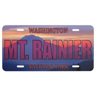 Mt. Rainier National Park License Plate