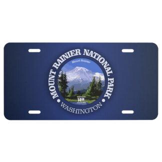 Mt Rainier NP License Plate