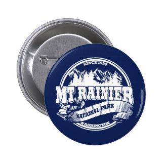Mt. Rainier Old Circle Blue Pinback Button