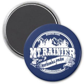 Mt Rainier Old Circle Blue Fridge Magnets