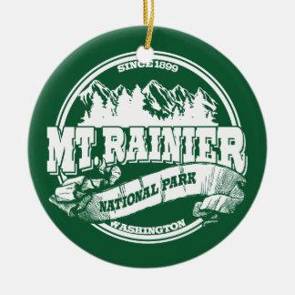 Mt. Rainier Old Circle Ceramic Ornament
