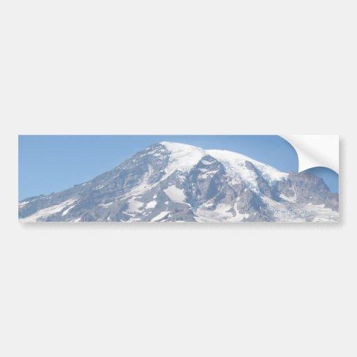Mt. Rainier On A Clear Day Car Bumper Sticker