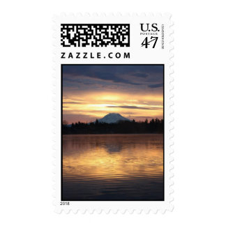 Mt. Rainier on American Lake Postage