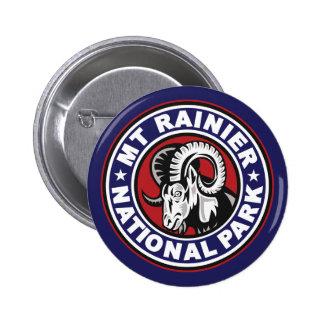 Mt Rainier Red White & Blue Logo Pins