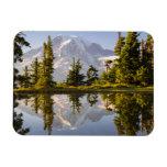 Mt. Rainier reflected in a tarn near Plummer Peak Rectangular Photo Magnet