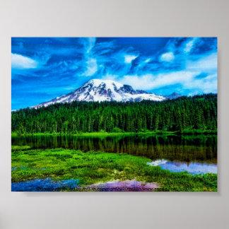"Mt. Rainier ""spicy"" Poster"