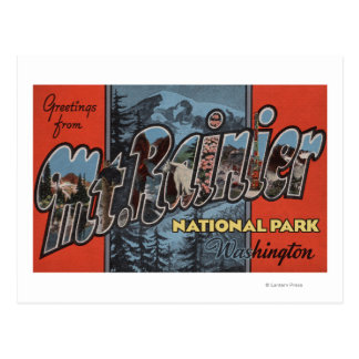 Mt. Rainier State Park, Washington Postcard