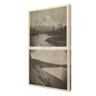 Mt Rainier Steilacoom Beach Canvas Print