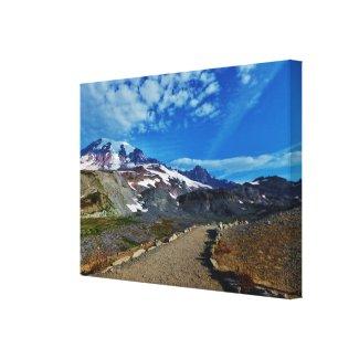 Mt. Rainier Stretched Canvas Print