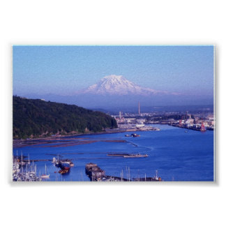 MT RAINIER           TACOMA WASHINGTON POSTER