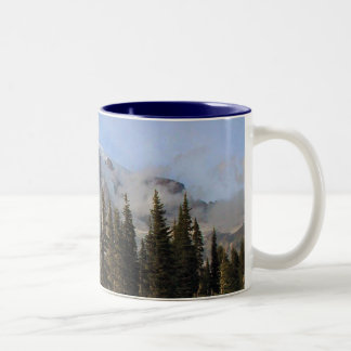 Mt Rainier Two-Tone Coffee Mug