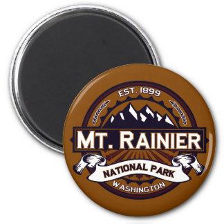 Mt. Rainier Vibrant 2 Inch Round Magnet