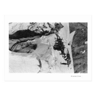 Mt. Rainier, WA Nisqually Glacier Climbers Postcard