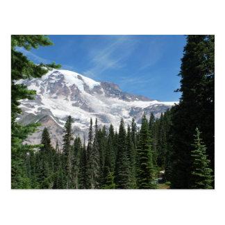 Mt Rainier Washington State by Julie L. Cleveland Postcard