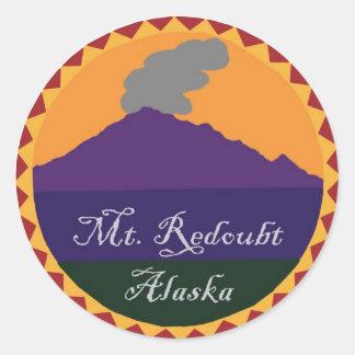 Mt. Redoubt Classic Round Sticker